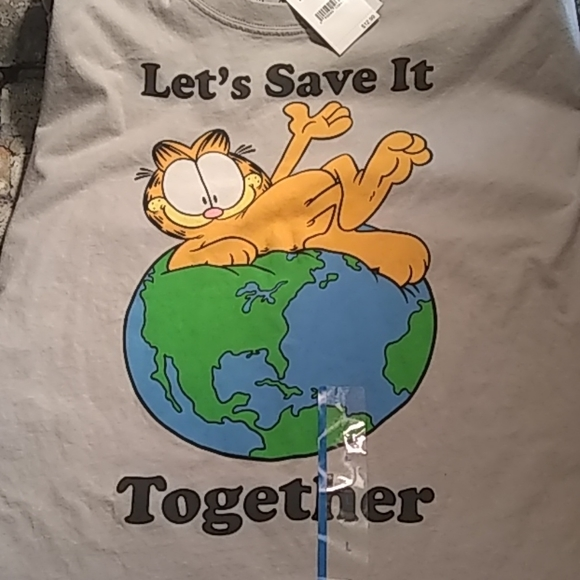 2-PACK Garfield Kids Youth T-Shirt Sz Large